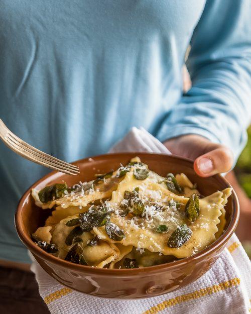 Ricotta And Spinach Ravioli