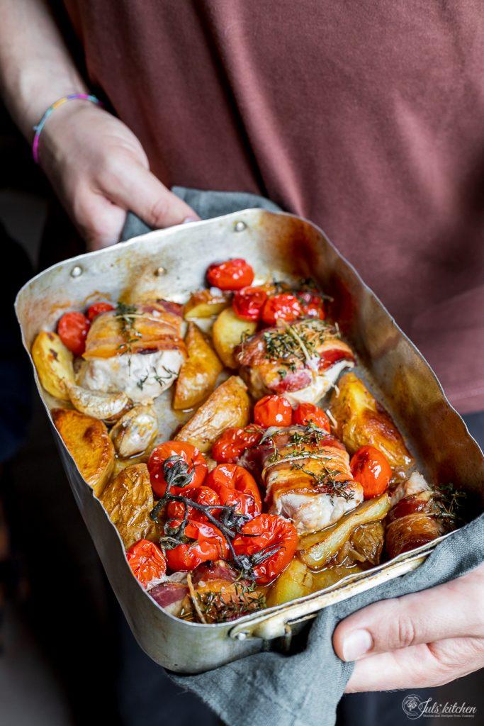 Pork tenderloin with pancetta