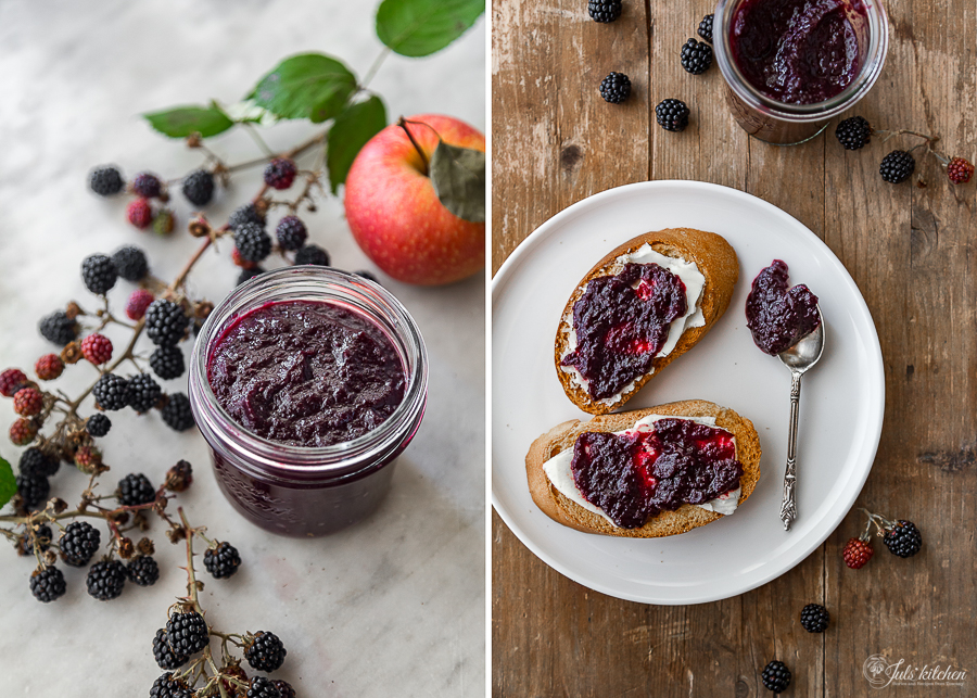 Blackberry and apple jam