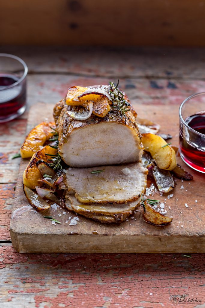 pork loin with apples