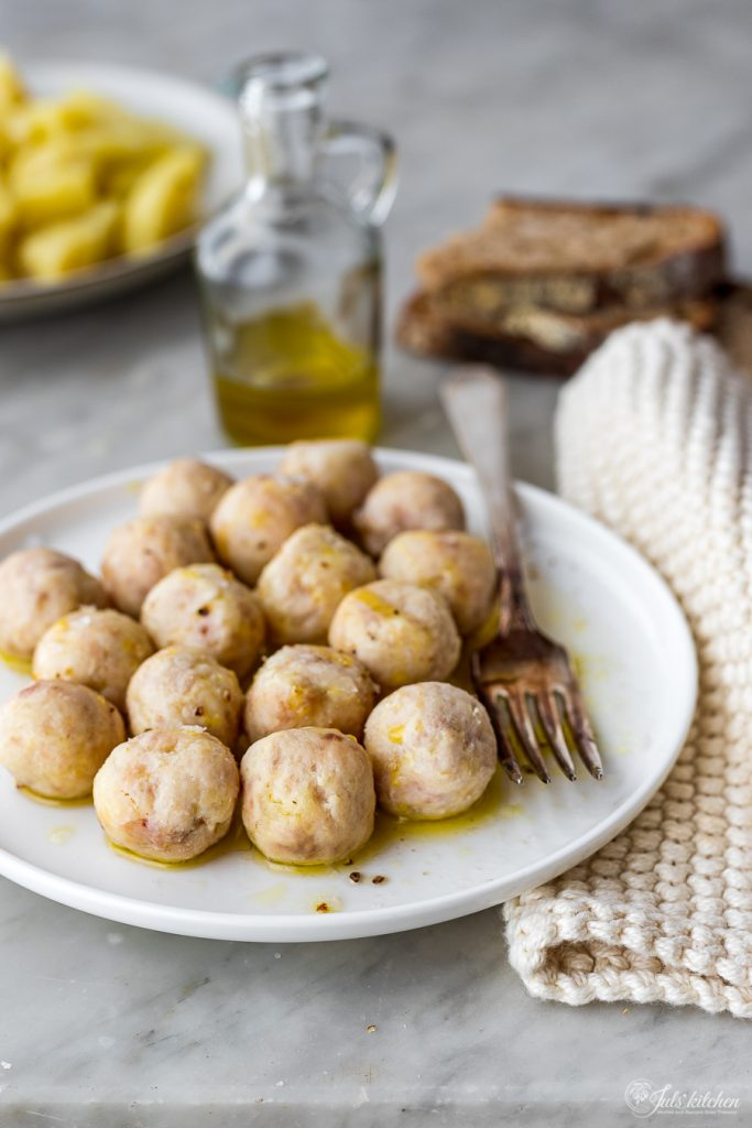 Chicken and potato meatballs
