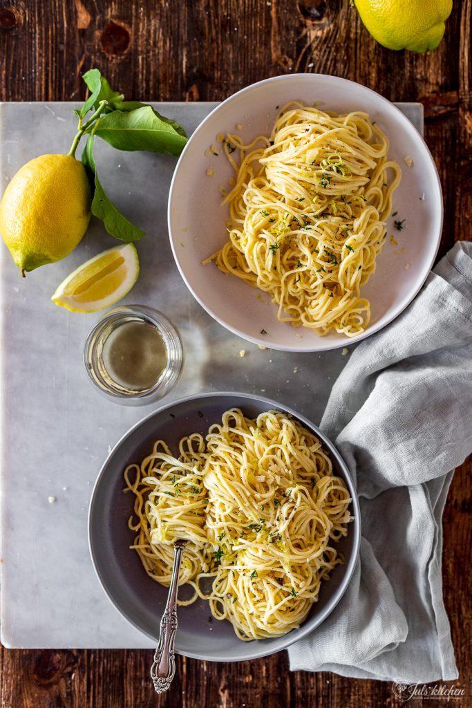 Lemon tagliolini