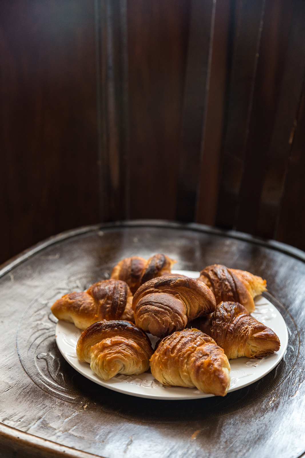Italian Croissants And Breakfast In A Bar For The Italian Table Talk