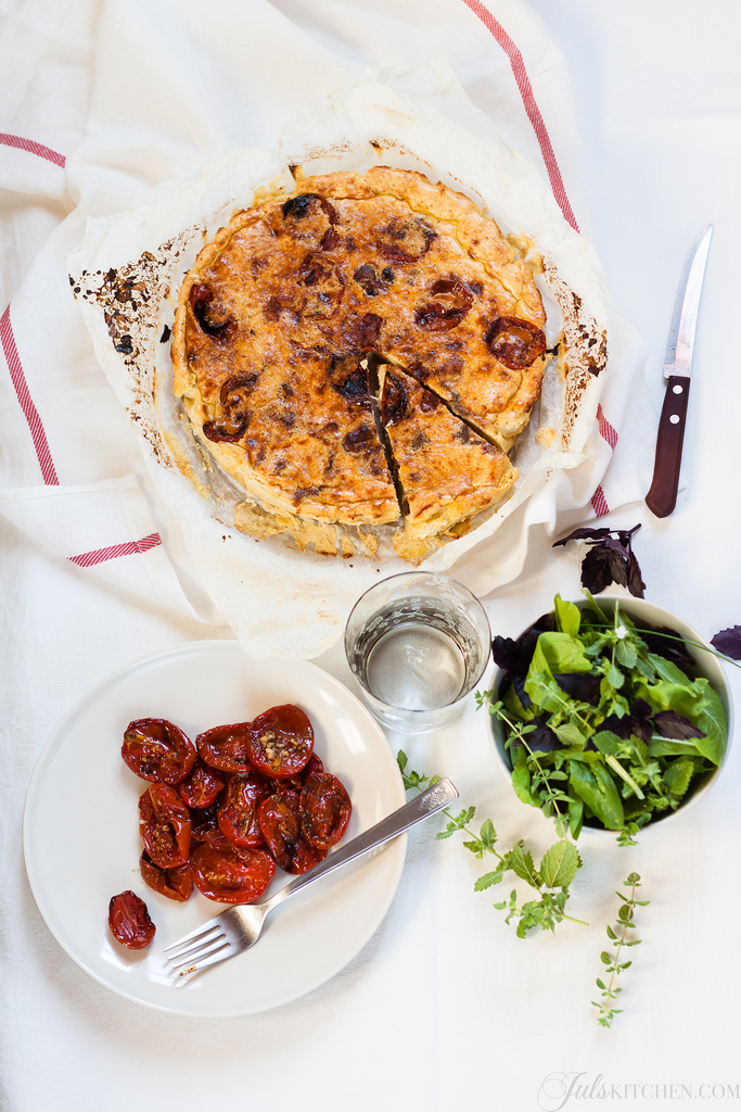 Chickpea Flour Quiche From The Jewelled Kitchen