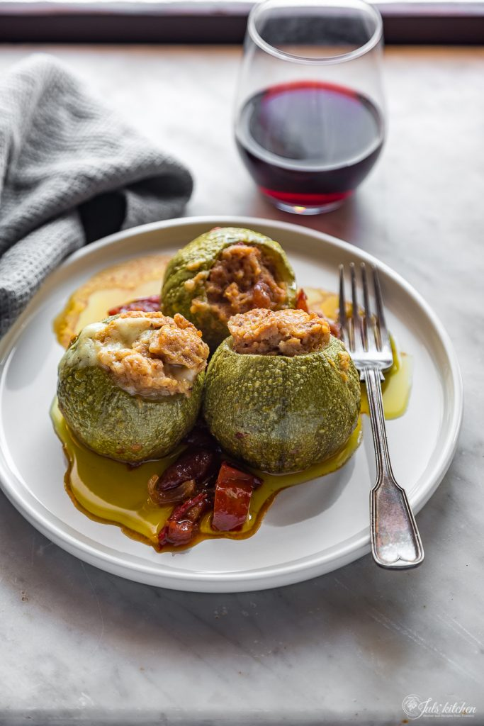Stuffed courgettes with tuna