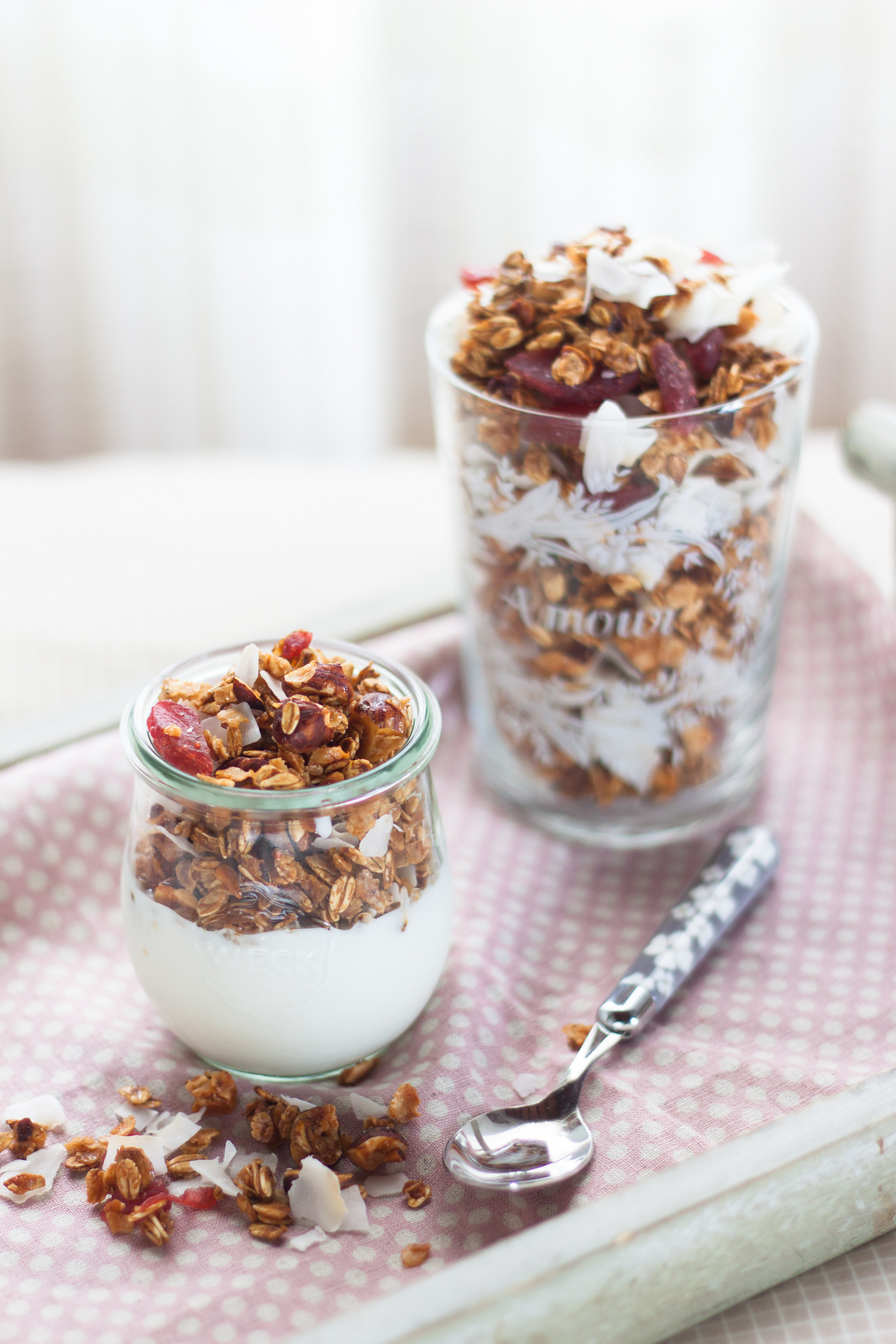 Everyone Wants To Be Special. Home-made Granola And Breakfast In Bed