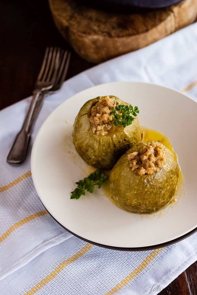 Round Courgettes Stuffed With Tuna. Our Secret Is In Good Hands.