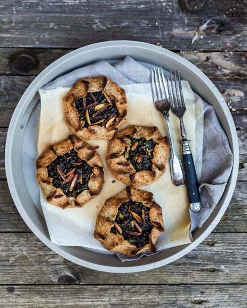 Kale, Almond And Ricotta Tartlets