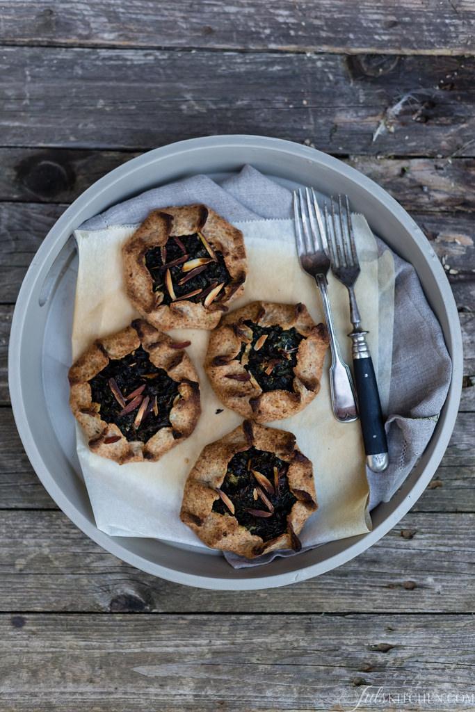 Black Kale, Ricotta And Almond Tartlets