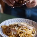 An Unusual Carbonara: Duck Breast And White Truffle Pasta