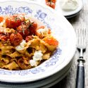 Mafalde With Roasted Tomatoes. Food Bloggers Pasta Party.