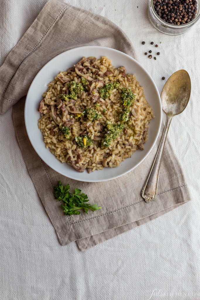 Risotto Al Lampredotto With Salsa Verde, It Doesn't Get Any Better Than This