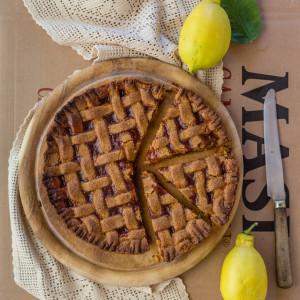 Summer With Juls' Kitchen. Peach Jam Pie