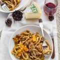 Pici with butternut squash