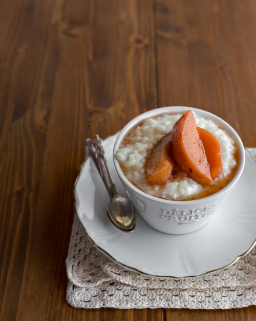 Rice Pudding With Roasted Quinces