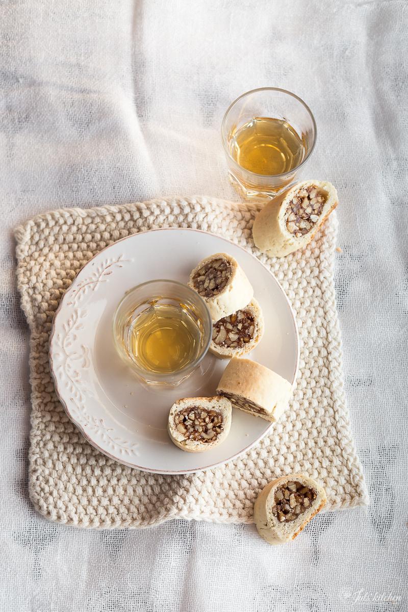 Sfratti From Pitigliano, Walnut And Honey Jewish Cookies