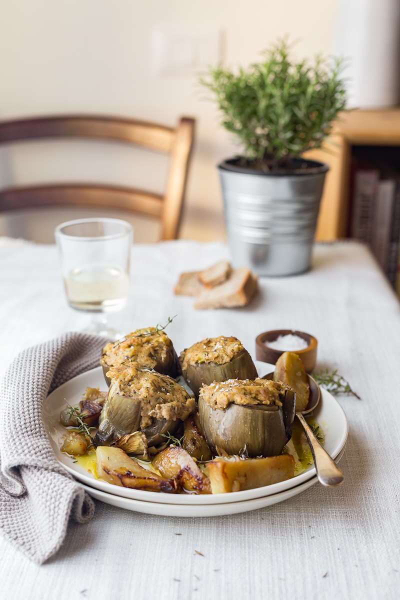 Tuna And Pecorino Stuffed Artichokes And An Organic Orchard