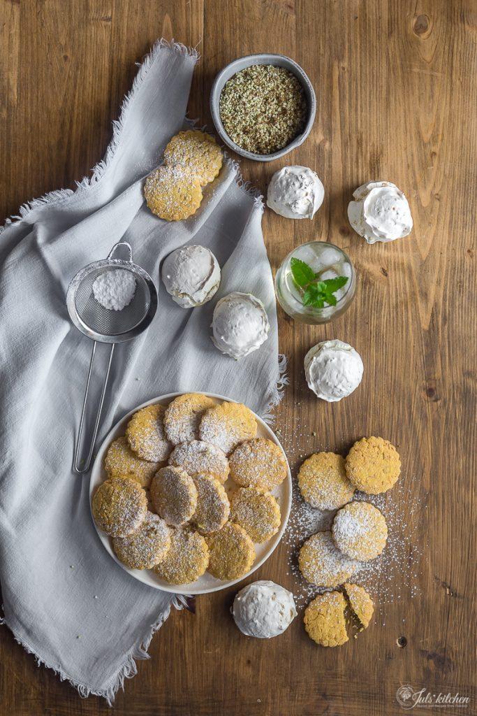 Elderflower cornmeal cookies