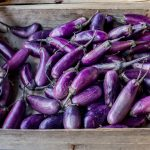 Eggplants at the market
