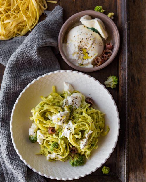 Tagliatelle With Romanesco Broccoli