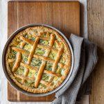 agretti and ricotta pie