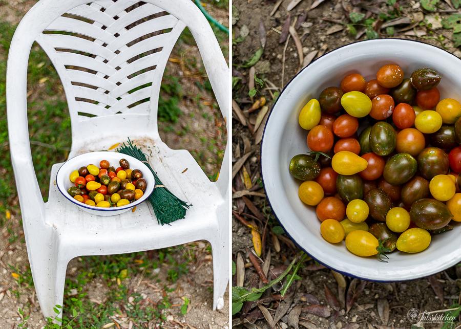 Pasta al sugo di pomodorini e pinoli