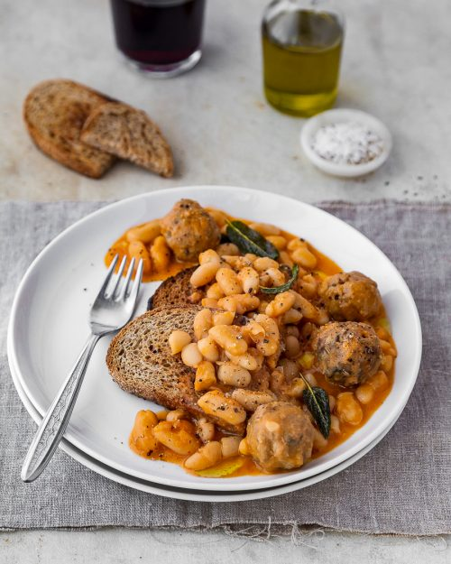 Sausage Meatballs And Beans