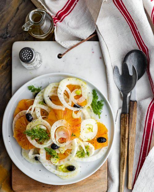 Blood Orange And Fennel Salad.