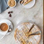Farro and ricotta tart