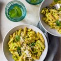 The Fairy Godmother Of Old Recipes. Pasta With Zucchini And Saffron