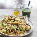 Ancient grain and artichoke salad