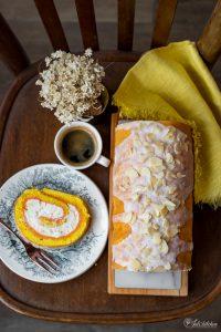 Ricotta sponge roll cake