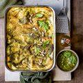 Basil pesto and ricotta lasagna