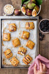 Fig and blackberry lattice pastries