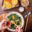 Cavolo Nero Salad With Walnuts, Orange And Honey