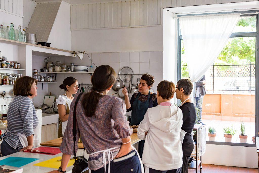 Teaching a class at Latteria Studio in Rome in 2017
