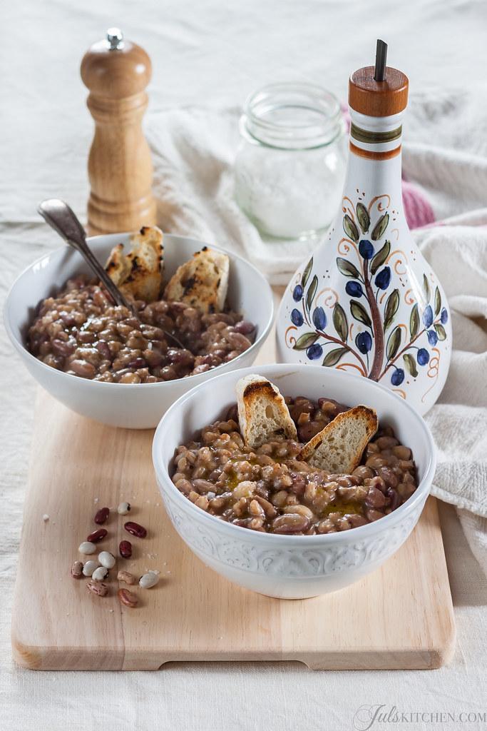 Bean soup with farro